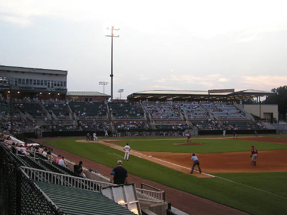 A view from the 1st base side, Pringles Park