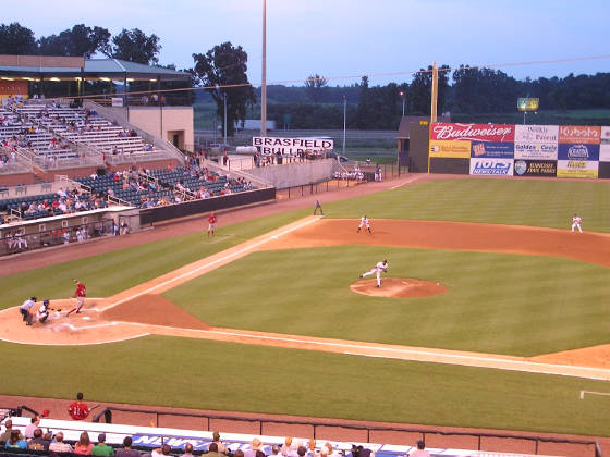 Game Action at Pringles Park  Jackson, Tennessee
