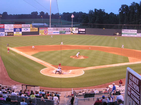 More game action at Pringles Park, Jackson, Tn